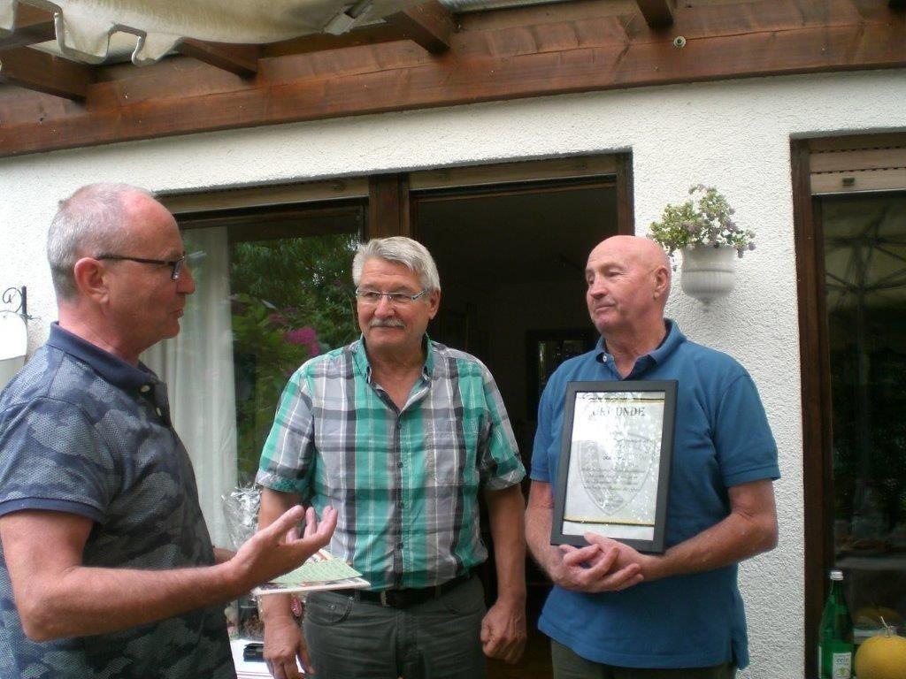 Robert Heil und Josef Kokott für 60-jährige Mitgliedschaft geehrt