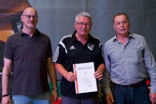 Verleihung von DAN Graduierungen für Michael Schilling, Thomas Schnittler und Eduard Trippel